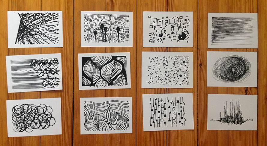 Schwarz-weiß Zeichnungen, Lineart, Linien