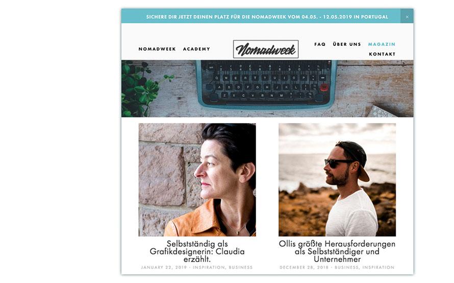 Artikel über Selbständigkeit im Magazin von nomadweek