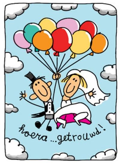 Uitgelezene HUWELIJK FELICITATIE HUMOR | Felicitatie humor geschenken! VL-31