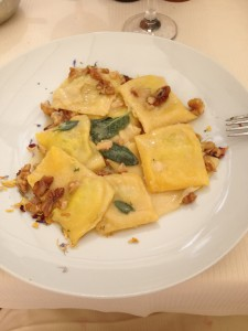 Tortelloni with Butter, Sage and Walnuts