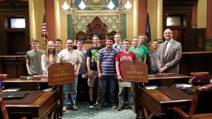 Many thanks to State Representative Eric Leutheuser for escorting the junior and senior class to the House floor.