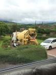 concrete mixer arriving