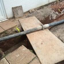 Pipes laid to pump concrete 2
