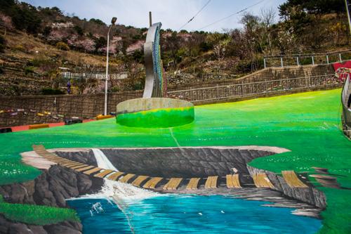 Dangerous Cliff Bridge - Gamcheong Cultural Village