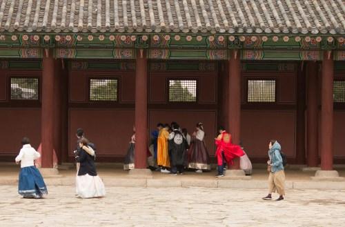Visitors in Hanbok - Gyeongbok Palace Visit