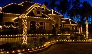 christmas holiday lighting lawn care