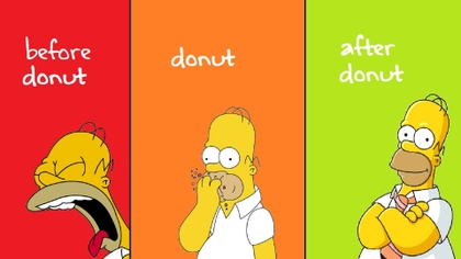 green red yellow homer simpson donuts hungry 1920x1080 wallpaper_www.wallpaperno.com_63