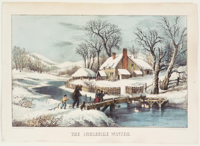The Ingleside Winter Currier Amp Ives Springfield Museums