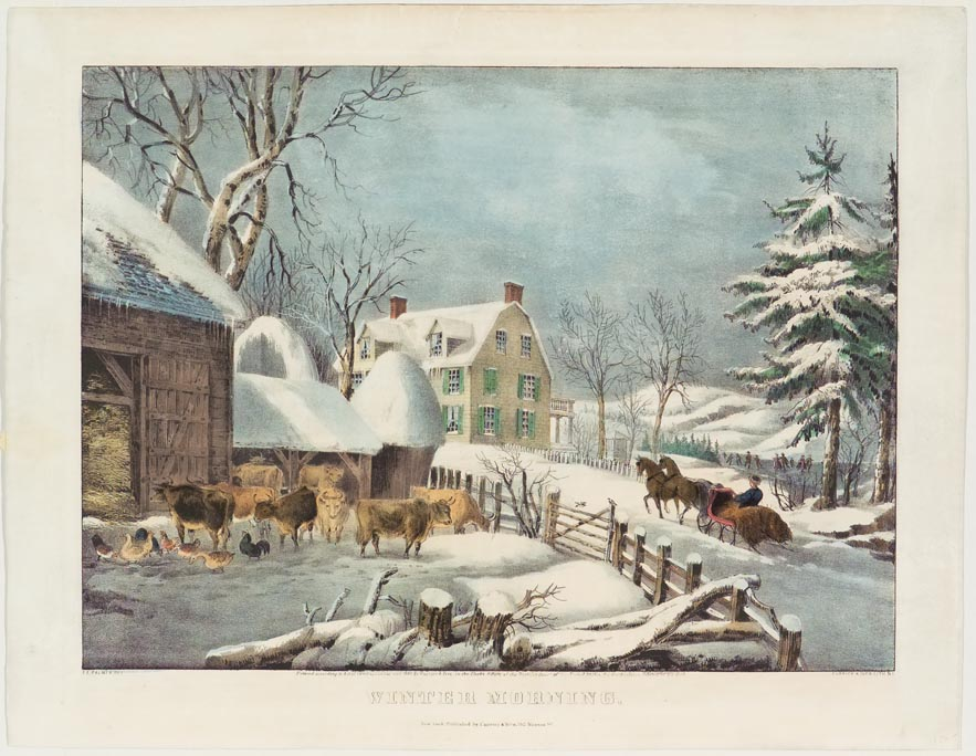 Winter Morning Currier Amp Ives Springfield Museums