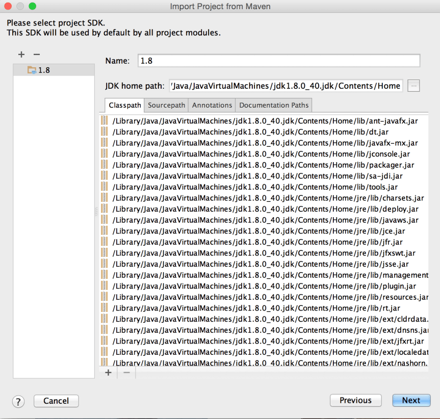 Import Project from Maven