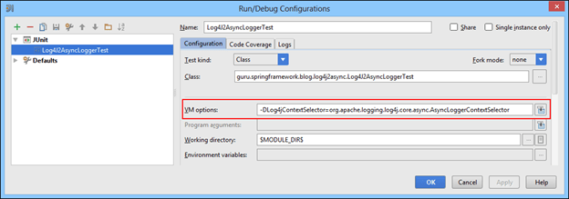 Setting Log4jContextSelector for asynchronous logger