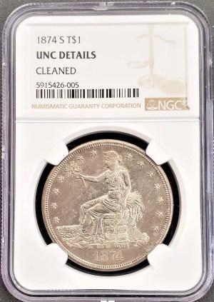 AC-4 1874 Trade Dollar