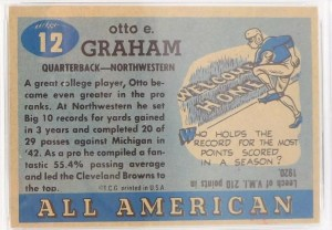 1955 Topps All American Otto Graham #12