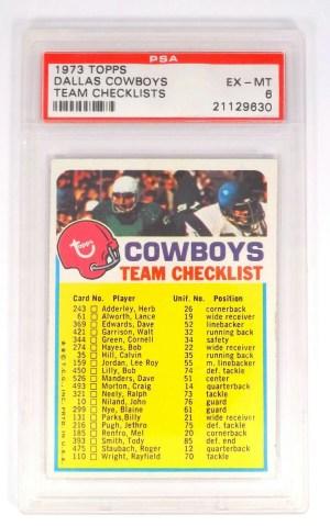 F63: 1973 Topps Dallas Cowboys