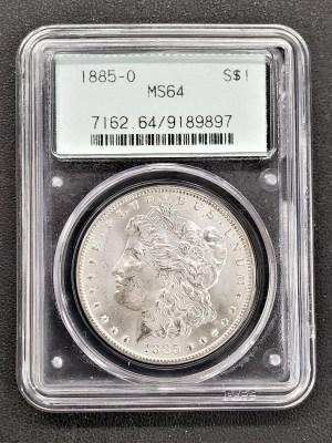 M04-50 1885 Morgan Silver Dollar PCGS MS64