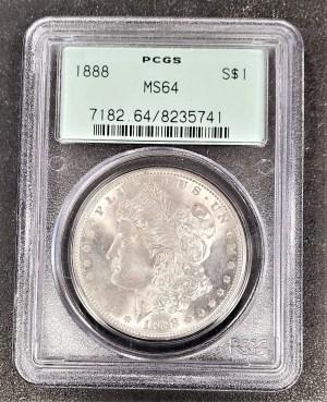 M04-65 1888 Morgan Silver Dollar PCGS MS64