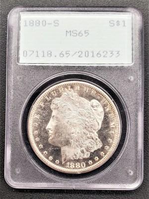 M04-10 1880 Morgan Silver
