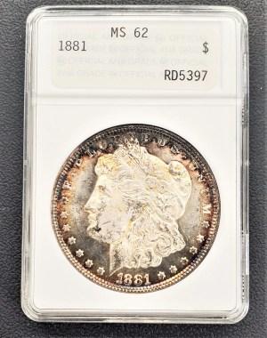 M04-11 1881 Morgan Silver Dollar ANACS MS62