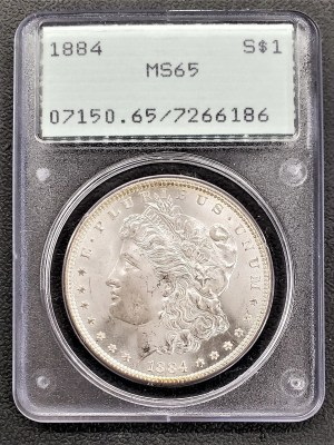 M04-31 1884 Morgan Silver Dollar PCGS MS65
