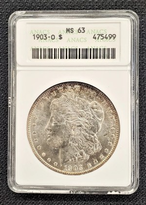 1903-O Morgan Silver Dollar ANACS MS63