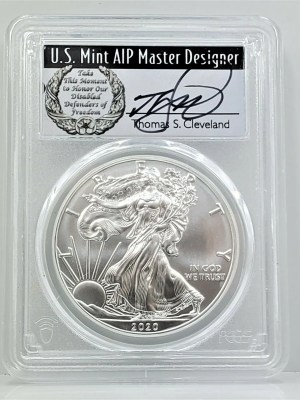 SE39 2020 PCGS MS70 FIRST DAY CLEVELAND DISABLED -1