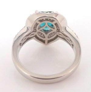 PG01: GIA Certified Grandidierite and Diamond Platinum Ring