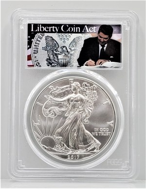 SE32 2017 ASE PCGS MS70 First Strike Liberty Coin Act