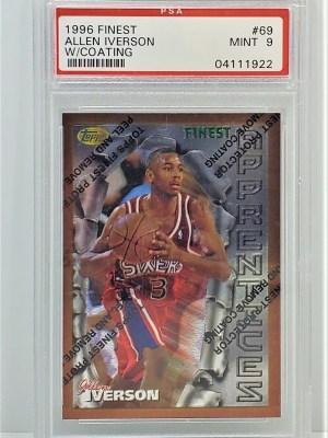 1996 Topps Finest #69 Allen Iverson Rookie Coating