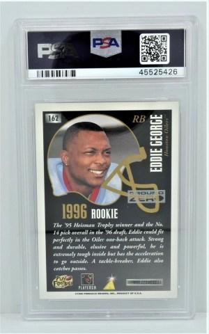 1996 Summit #162 Eddie George Ground Zero Rookie Refractor