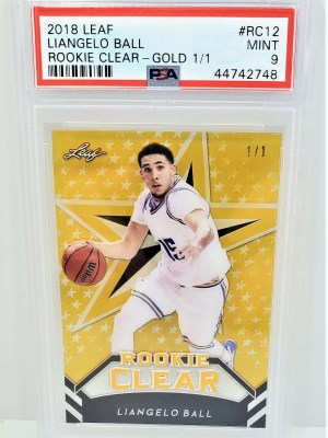 2018 Leaf Gold Liangelo Ball Rookie Clear #RC12