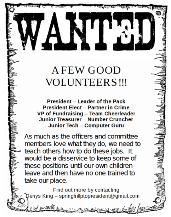 Wanted - available PTO positions 2019-20
