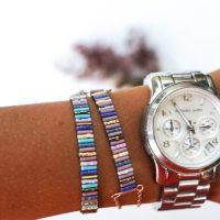 DIY woven miyuki bracelet