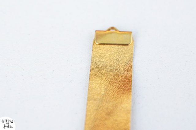 bracelet cuir gold fleche (etape 3)