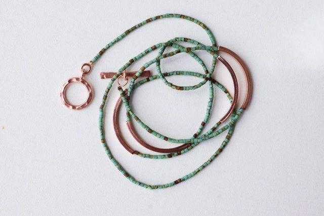 bracelet tursquoise et rose gold