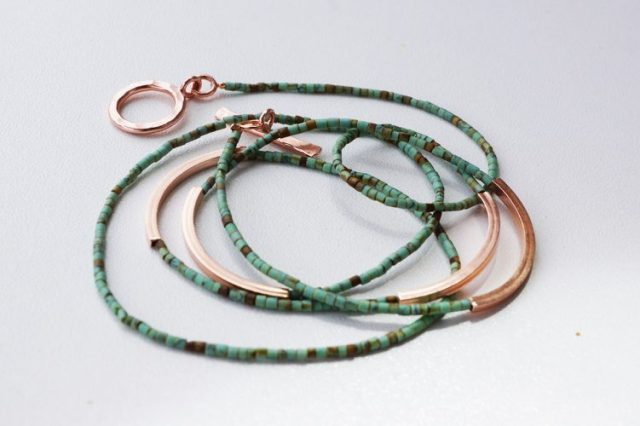 wrap bracelet rose gold