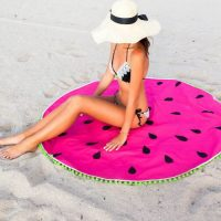 DIY watermelon round towel
