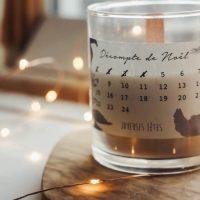 DIY bougie calendrier de l'avent à imprimer