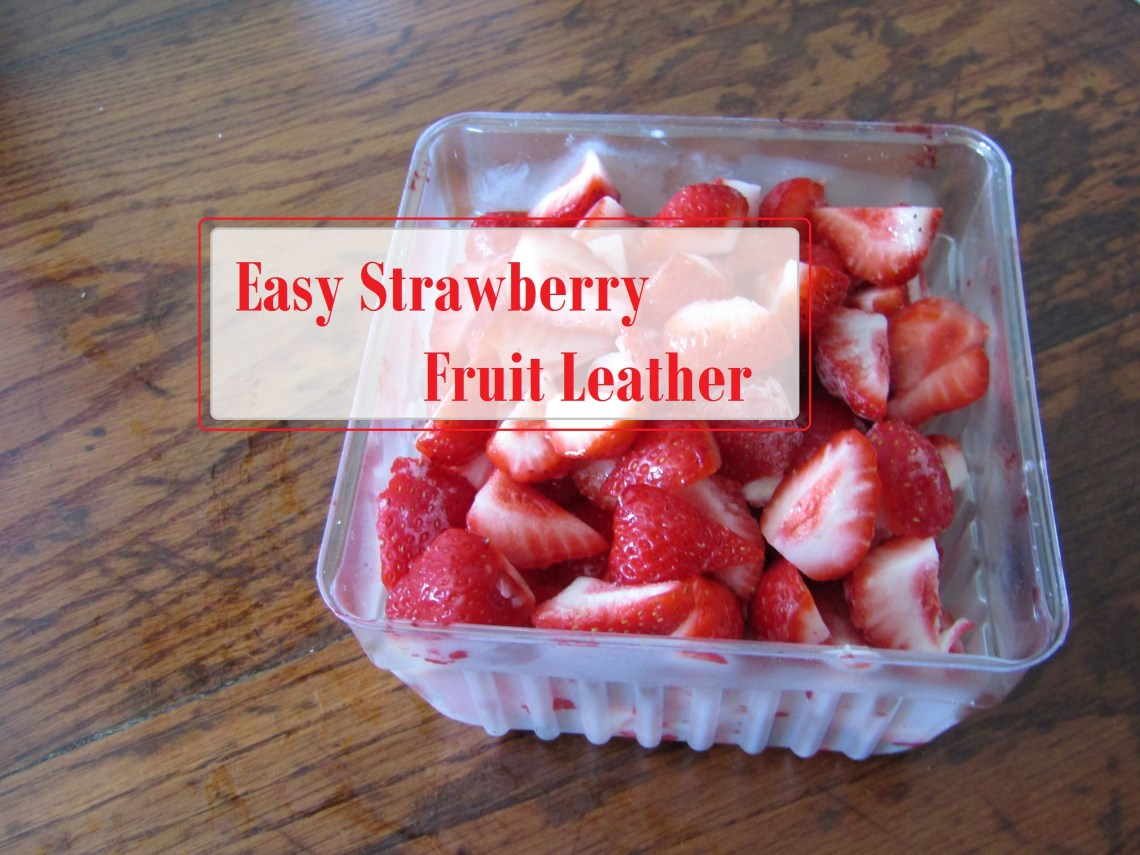 Easy Strawberry Fruit Leather