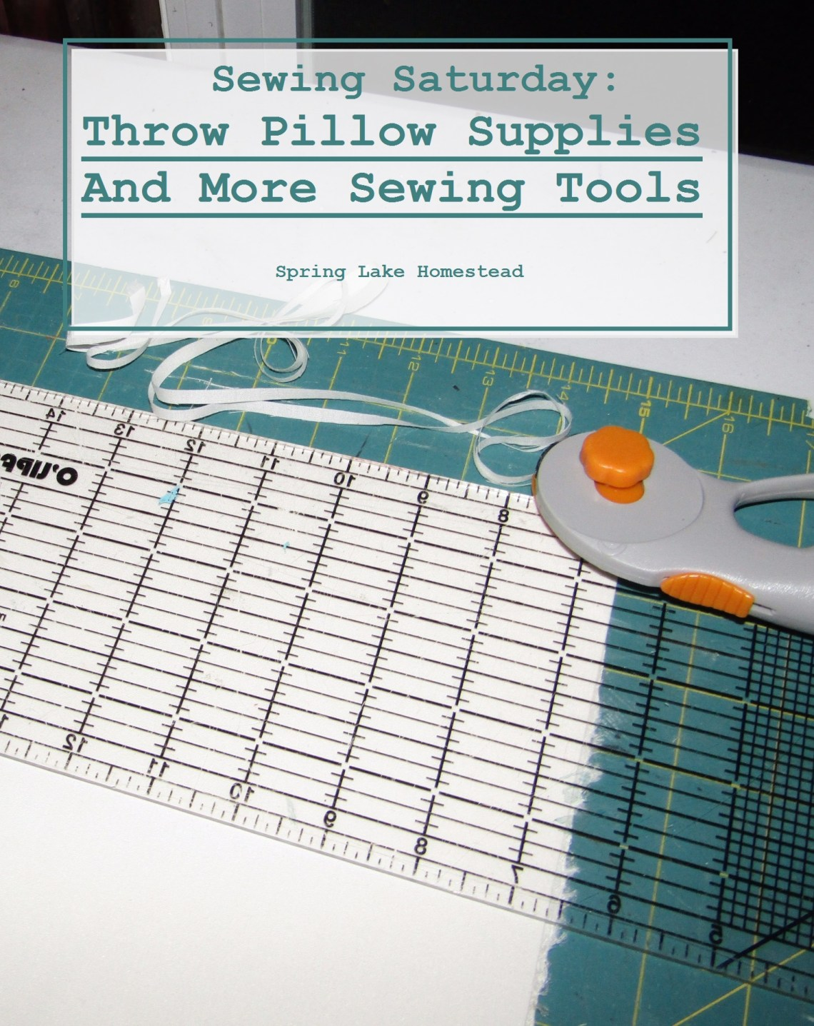 What you need to start sewing your very first pillow!