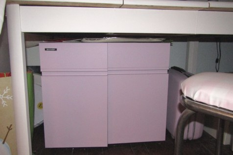 One of the cabinets I brought into the room.