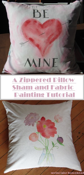 Zippered-Pillow Sewing Tutorial (And Fabric Painting)
