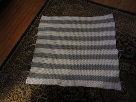 Crocheted, Woven, Gingham Baby Blanket