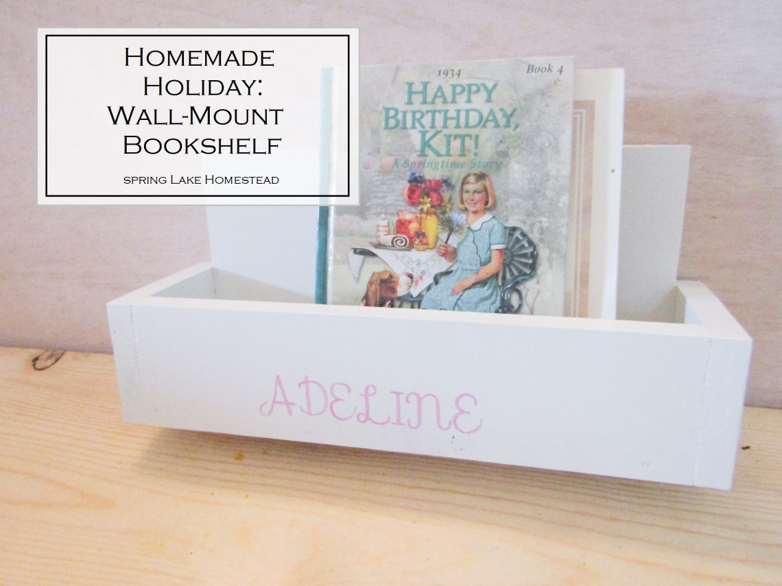 Homemade Holiday: Wall-Mount Bookshelf