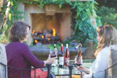 Sherwin Vineyards Outdoor fireplace s
