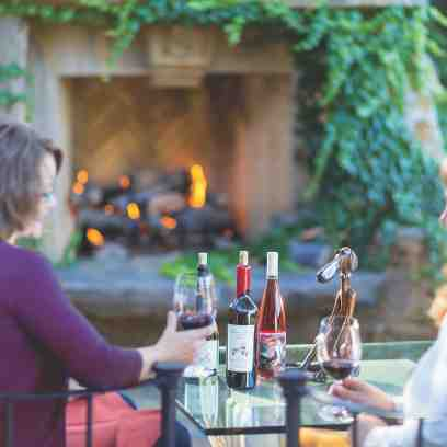 Sherwin Vineyards Outdoor fireplace s