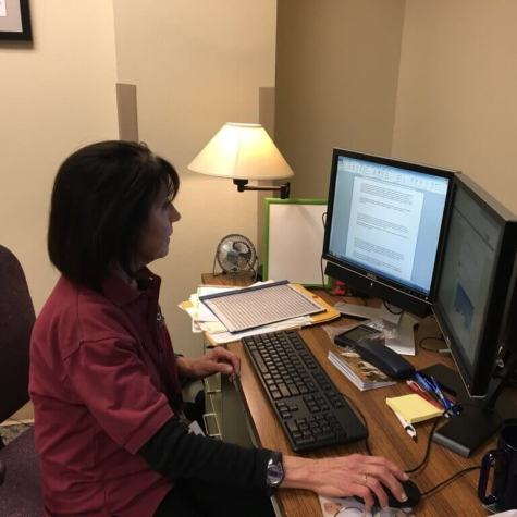 Liz helps keep the Public Information Office running smoothly