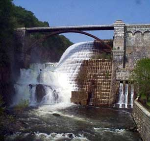 Water Flowing Over Croton Dam