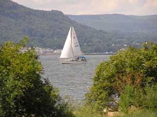Sailboat from Croton-on-Hudson