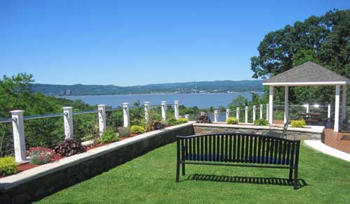 Hudson River view from deck