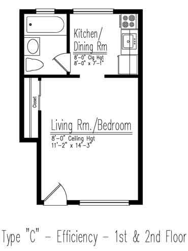 Type C Efficiency Floor Plan